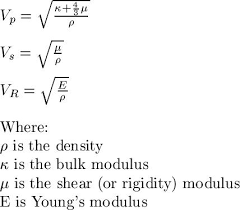 Re What Controls Seismic Wave Velocity