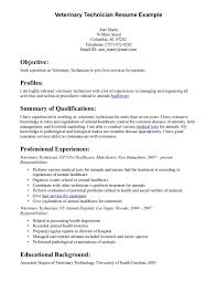 Veterinary Technician Resume Example Veterinary Technician Resume