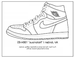 Trendy Jordan Shoes Coloring Pages Printable Faalconn