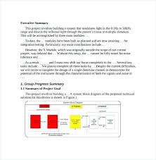 Executive Summary Project Status Report Template – Template ...