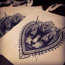 vintage frame tattoo design. Beautiful Frame Cat Tattoo Ideas Love The Framing With Vintage Frame Tattoo Design O