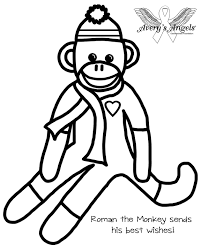 Sock Monkey Coloring Pages Free