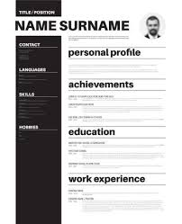 Vector Minimalist Cv Resume Template With Nice Typogrgaphy Stunning Nice Resume