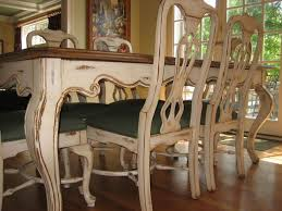 antiqued and distressed kitchen table and chairs rustic kitchen