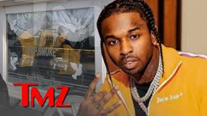 The dior rapper was shot in his hollywood hills home on 19 february fans crowded around to say their final goodbye to the late rapper (picture: Pop Smoke Funeral Procession Goes Through Streets Of Brooklyn Tmz Independent Communications Inc