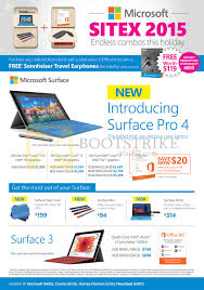 microsoft tablets surface pro 4 surface 3 sitex 2015 price list sitex 2015 price list image brochure of microsoft tablets surface pro 4 surface 3