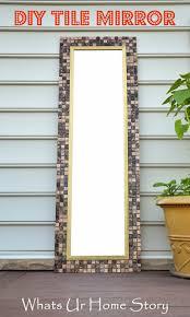 Over The Door Mirrors Diy Tile Mirror Tile Mirror Door Mirrors And Plywood