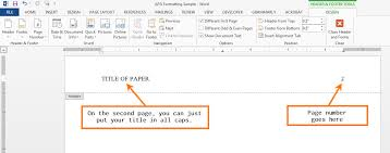 Microsoft Word Apa Header Apa Formatting For Microsoft Word Ashford Writing Center