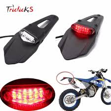 Enduro Lights Triclicks 20w Red Clear Motorcycle Enduro Trial Bike Fender