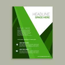 Green Brochure Template Green Color Brochure Flyer Template Download Free Vector Art