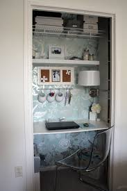 diy closet office. Cute And Smart Way To Change A Closet Into Work Place Diy Office