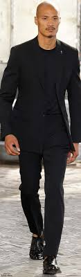 17 best ideas about black suits black suit men man givenchy spring 2016 like it but no naked foot in shoes when wearing a suit allways wear socks unless you wear sandals as this guy do