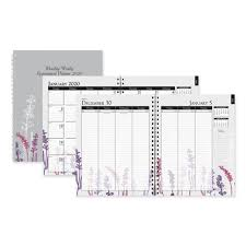 2020 2020 Weekly Planner House Of Doolittle 100 Recycled Wild Flower Monthly Weekly
