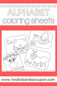 From a to z (simple style). Free Printable Alphabet Coloring Pages For Kids
