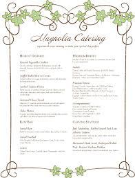 menu templates target catering menu template templates blank menu template 6qtwqi1v