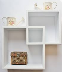 Amusing White Wall Shelf Idea With Cool Square Shaped Design At Endearing  Decoration Ideas ...