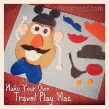 this little felt mr potato head play mat craft is a great quiet book project