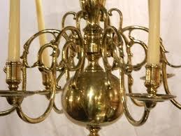 williamsburg chandelier antique brass six light j