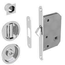Sliding Door Lock for Bathroom Doors Round