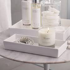 Ceramic Rectangular Container White The White Company - Candles for bathroom