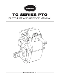 muncie tg series pto service parts manual docshare tips