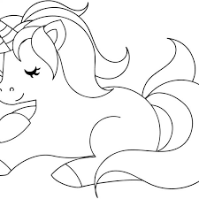 Cute Unicorn Coloring Page Free Printable Coloring Pages With