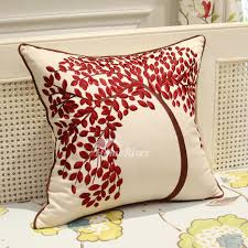 red sofa pillows. Simple Red Country Tree Linen Couch Burgundy And White Throw Pillows To Red Sofa M