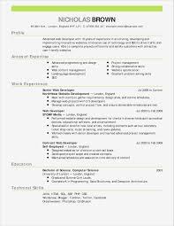 Basic Sample Resume Format New Fox School Business Resume Template