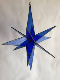 custom hanging 3d stained glass stars