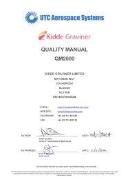 Utas Organisational Chart Quality Manual Qm2000 Utc Aerospace Systems