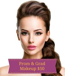 grad or prom makeup in yaletown