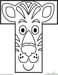 Nice alphabet coloring pages with big drawings and letters. Animal Alphabet Letters Coloring Pages Education Com