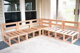 diy custom sectional corner sofa plan design natural pine wooden
