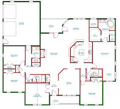 Small Picture Single Story Open Floor Plans Plan Single Level One Story