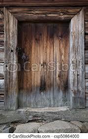 the old wooden door background csp50864000