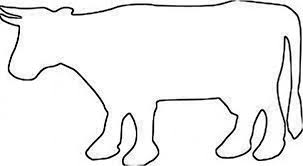 Cow Template Dairy Cattle Template Paper Cow Outline Png Clipart Free