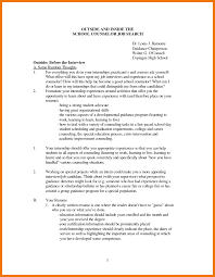 How To Make A Cover Letter For Internship Mentalth Counselor Cover Letter Sample For Counseling
