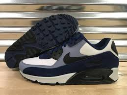 nike air max 90 leather running shoes blue void ashen slate sz 302519 400