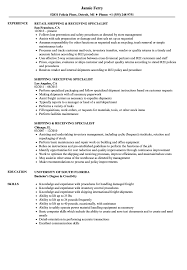 Shipping And Receiving Resume Examples Shipping Receiving Specialist Resume Samples Velvet Jobs 13