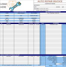 auto body repair invoice auto repair invoice template excel invoice example
