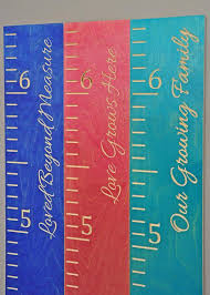 Growth Chart Ruler Wooden Chart Ruler Height Ruler Tool Free Installation Personalized Free Shipping Usa