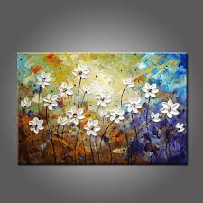 hand painted high quality abstract modern flowers oil painting on canvas abstract flower oil paintings for