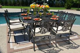 aluminum dining sets patio furniture. serena luxury 8-person all welded cast aluminum patio furniture dining set w/square table sets p