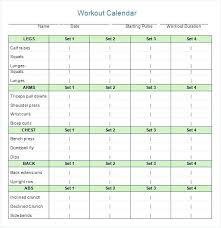 Calendar Template For Word Workout Log Template Word Helenamontana Info