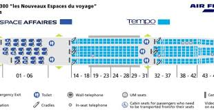 Air France Airlines Airbus A340 300 Aircraft Seating Chart