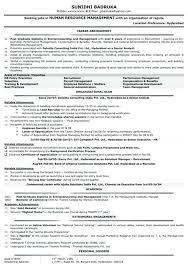 Hr Resume Templates Amazing Hr Resume Format To H R Resume Format Resume Format For Freshers Mba