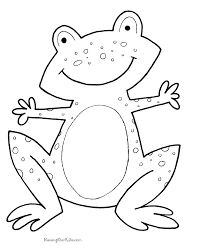 Small Picture Frog coloring book pages 001