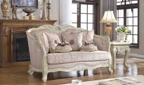 Traditional Living Room Sets Furniture 621 Positano Traditional Living Room Set In Antique White By