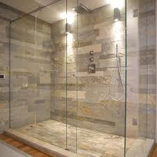Natural Stone Bathroom Designs Of goodly Natural Stone Wall And Glass  Shower Enclosure Popular