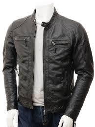 mens black leather jacket branscombe